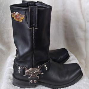 Vintage Harley Davidson Eagle Harness Boots · 11M